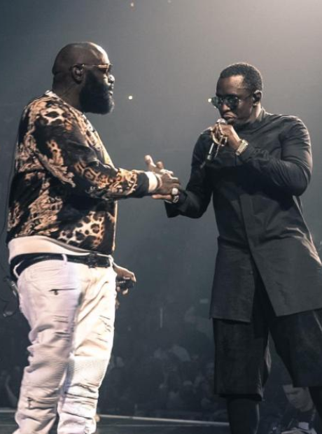 Puff Daddy Rick Ross On Stage