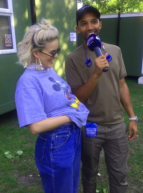 Backstage at Wireless Festival