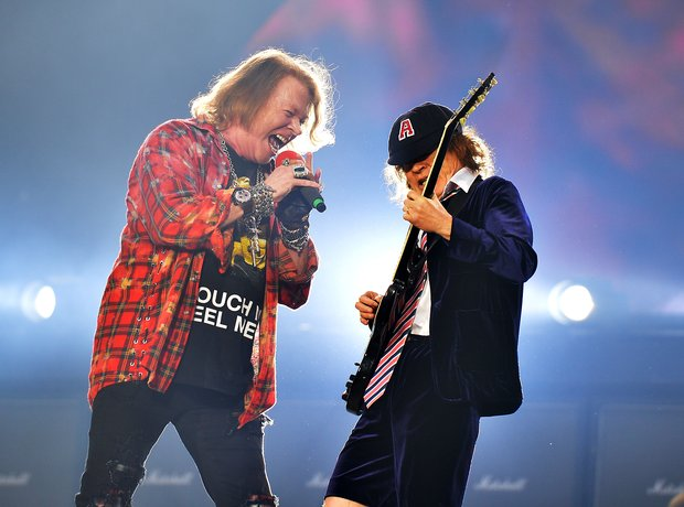 AC/DC performing on stage