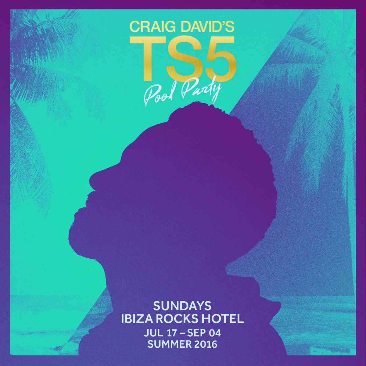 Craig David Ibiza Rocks flyer