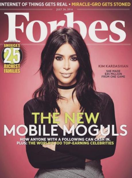 Kim Kardashian Forbes Magazine