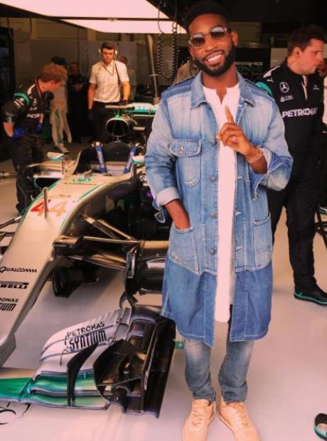 Tinie Tempah at Formula One