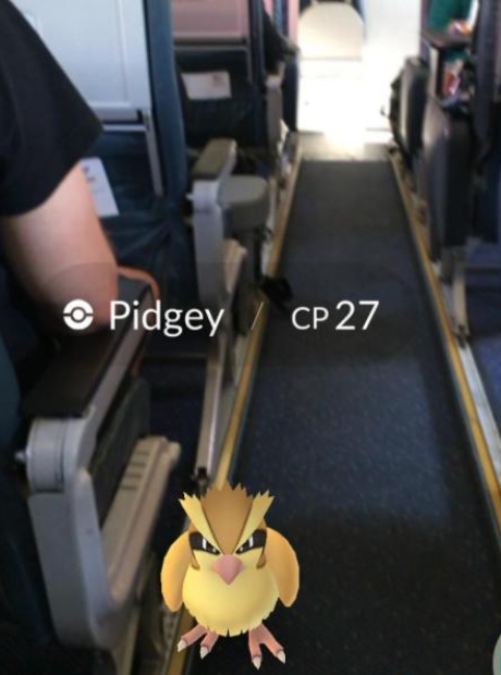 Disclosure Pokemon Go on plane