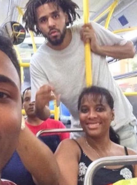 J. Cole on the bus