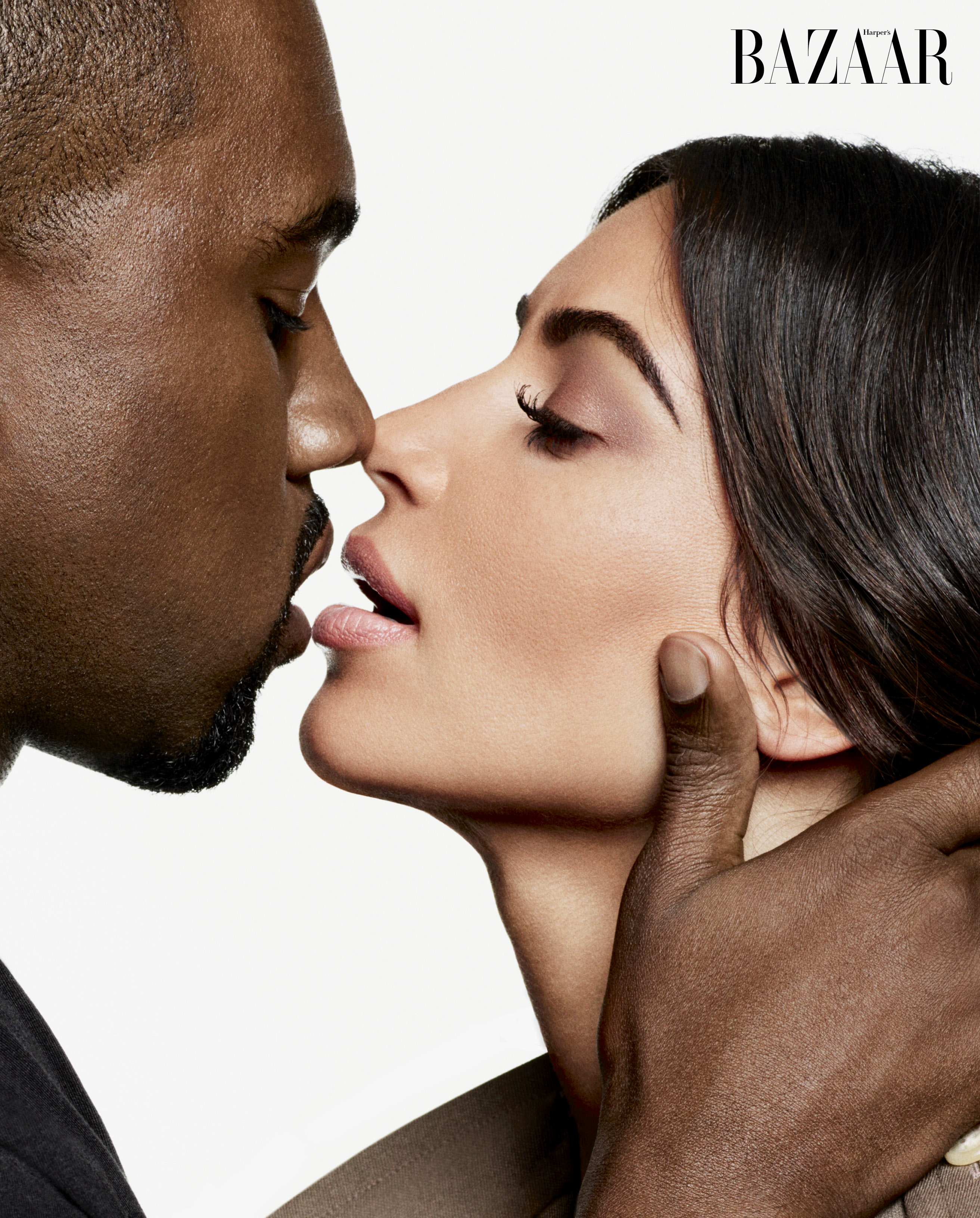 Kim Kardashian and Kanye West for Harper's Bazaar