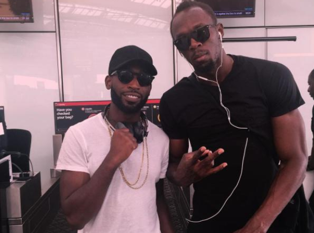 Tinie Tempah and Usain Bolt