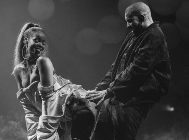 Drake and Rihanna dancing together