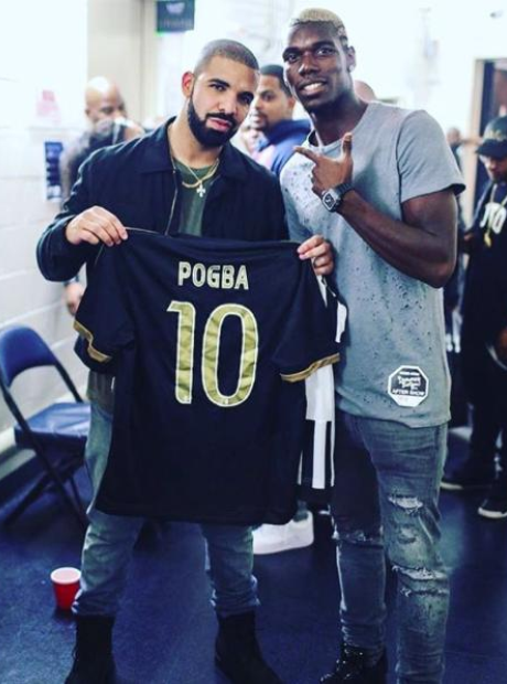 Drake and Paul Pogba
