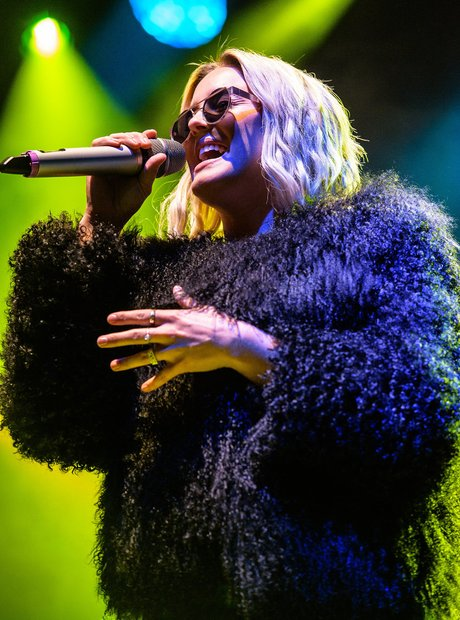 Anne Marie on stage at V Festival