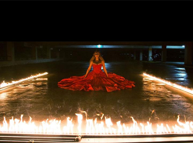 Beyonce on the set of Lemonade