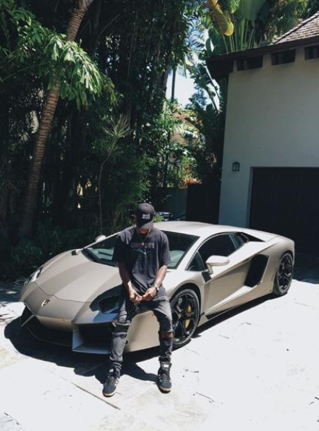 Bryson Tiller with his Lamborghini