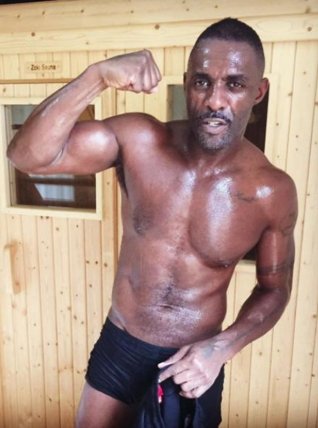 Idris Elba with no shirt on