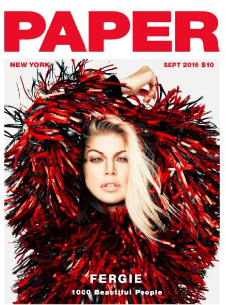 Fergie on cover of Paper Magazine