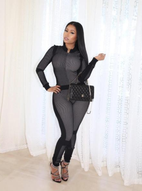 Nicki Minaj Grey Chanel Outfit