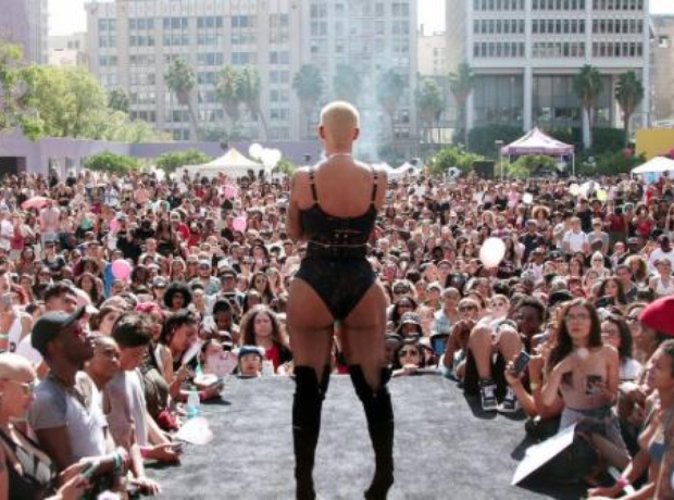 amber rose slutwalk stage LA