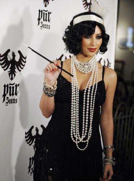 Kim Kardashian Flapper Girl Halloween Costume