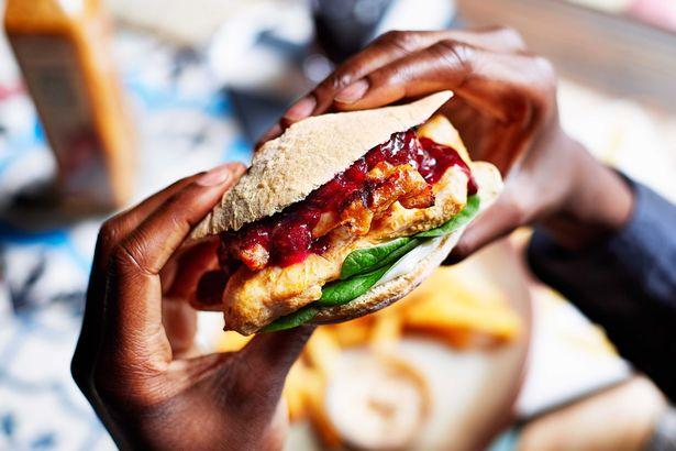 Nandos Festive Burger