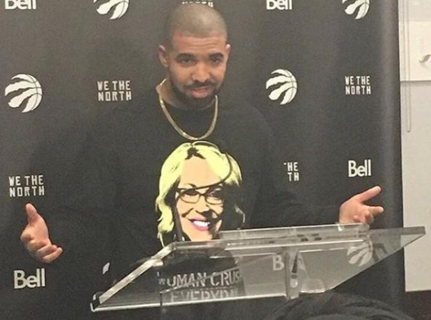 Drake During Drake Night Raptors Game