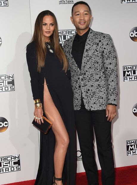 Chrissy Teigen and John Legend at the AMA 2016