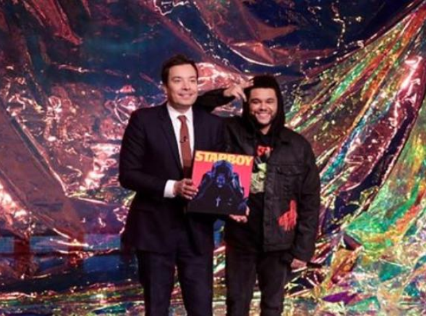 The Weeknd On Jimmy Fallon