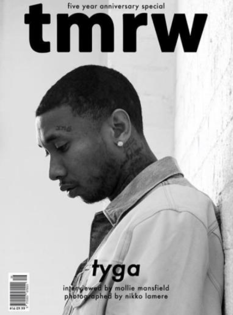 tyga features in 'tmrw' magazine