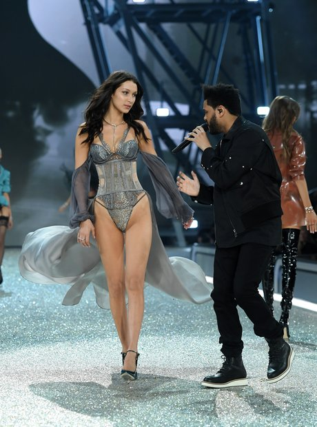 Bella Hadid and The Weeknd at the VS Fashion Show