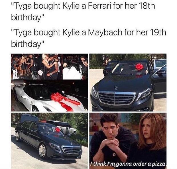 Kylie Tyga Mercedes Meme