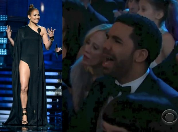 Drake and JLo at the 2013 Grammys