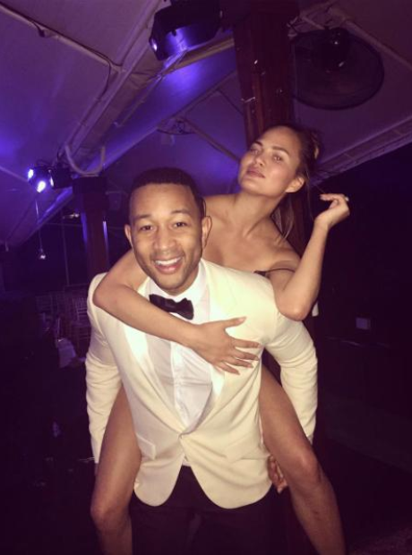 John Legend and Chrissy Teigan on New Year's Eve