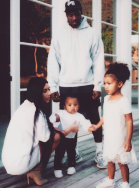 Kim K and her family