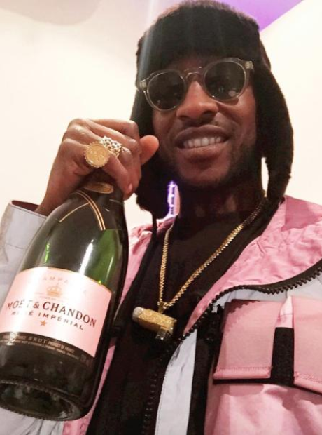 Skepta celebrating his BRIT nomination