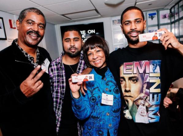 Big Sean invited his family backstage during his S