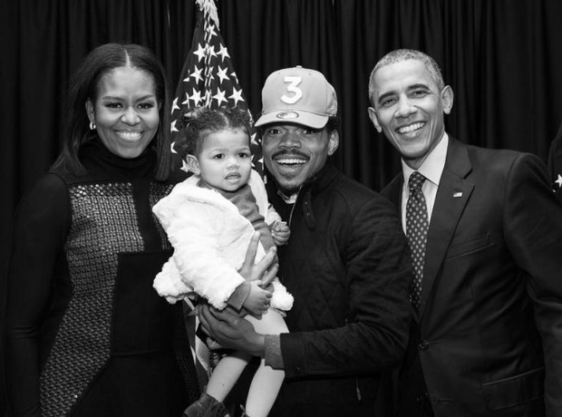 Chance The Rapper, Obamas and daughter