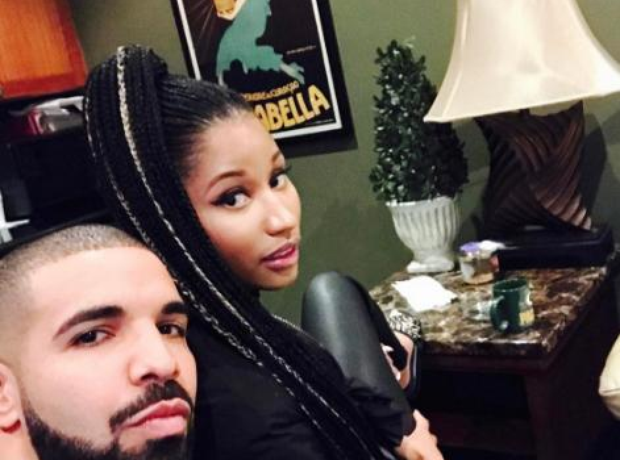 Nicki Minaj with Drake on instagram