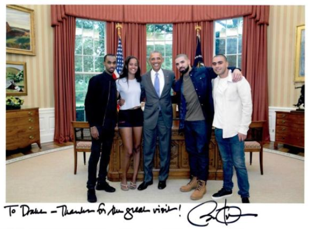 Drake in the White House with Obama