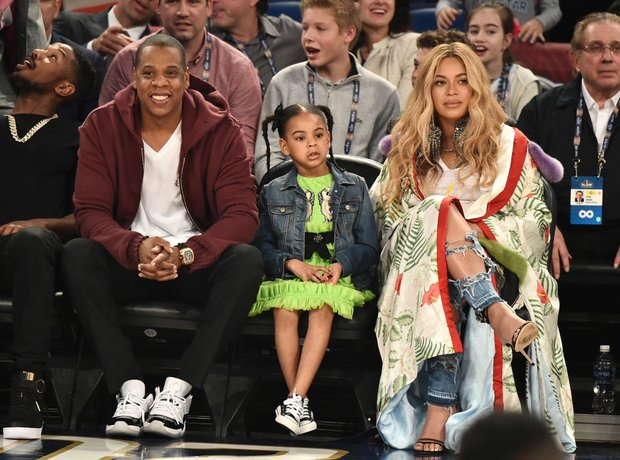 Beyonce and Jay Z attend NBA All Star Game with Bl