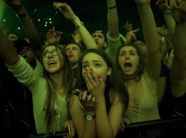 Drake fans in Dublin