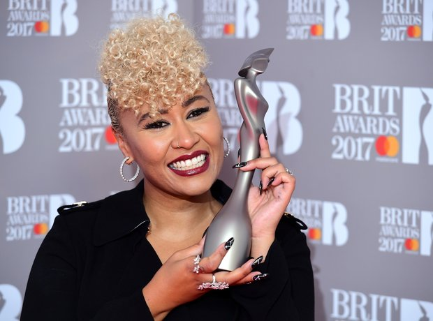 Emeli Sande Press Room WINNER BRITs 2017 2