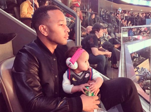 John Legend and Luna at the BNA All-Star Weekend.