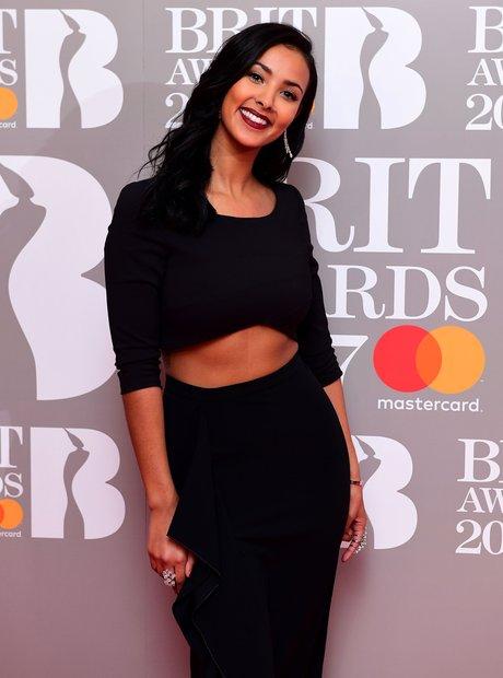Maya Jama attending the Brit Awards 2017