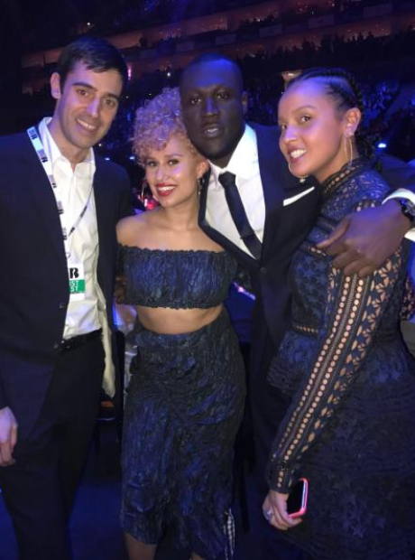 Raye and Stormzy at the BRITs 2017