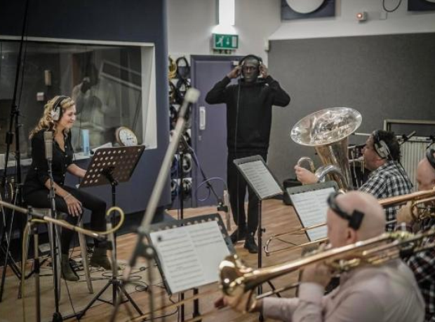 Stormzy in the studio