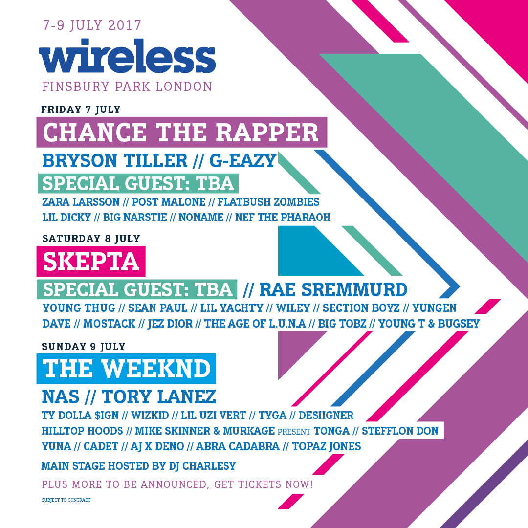 Wireless Festival 2017 Line Up