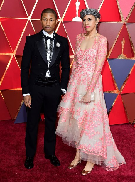 Pharrell Williams and Mimi Valdes at the Oscars