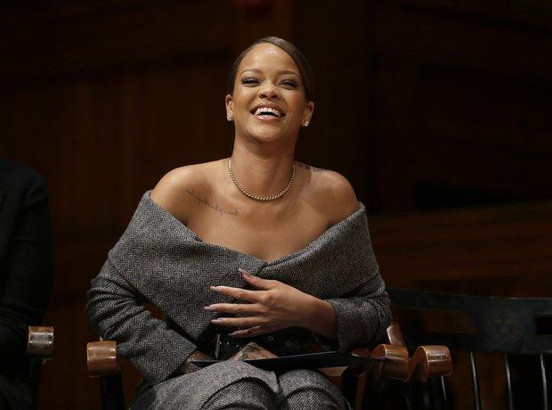 Rihanna at Harvard University
