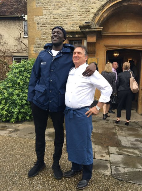 Stormzy cooking pancakes with Raymond Blanc