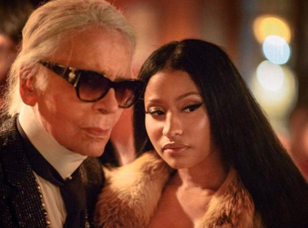 Karl Lagerfeld and Nicki Minaj