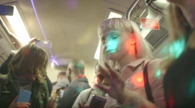 Underground tube rave