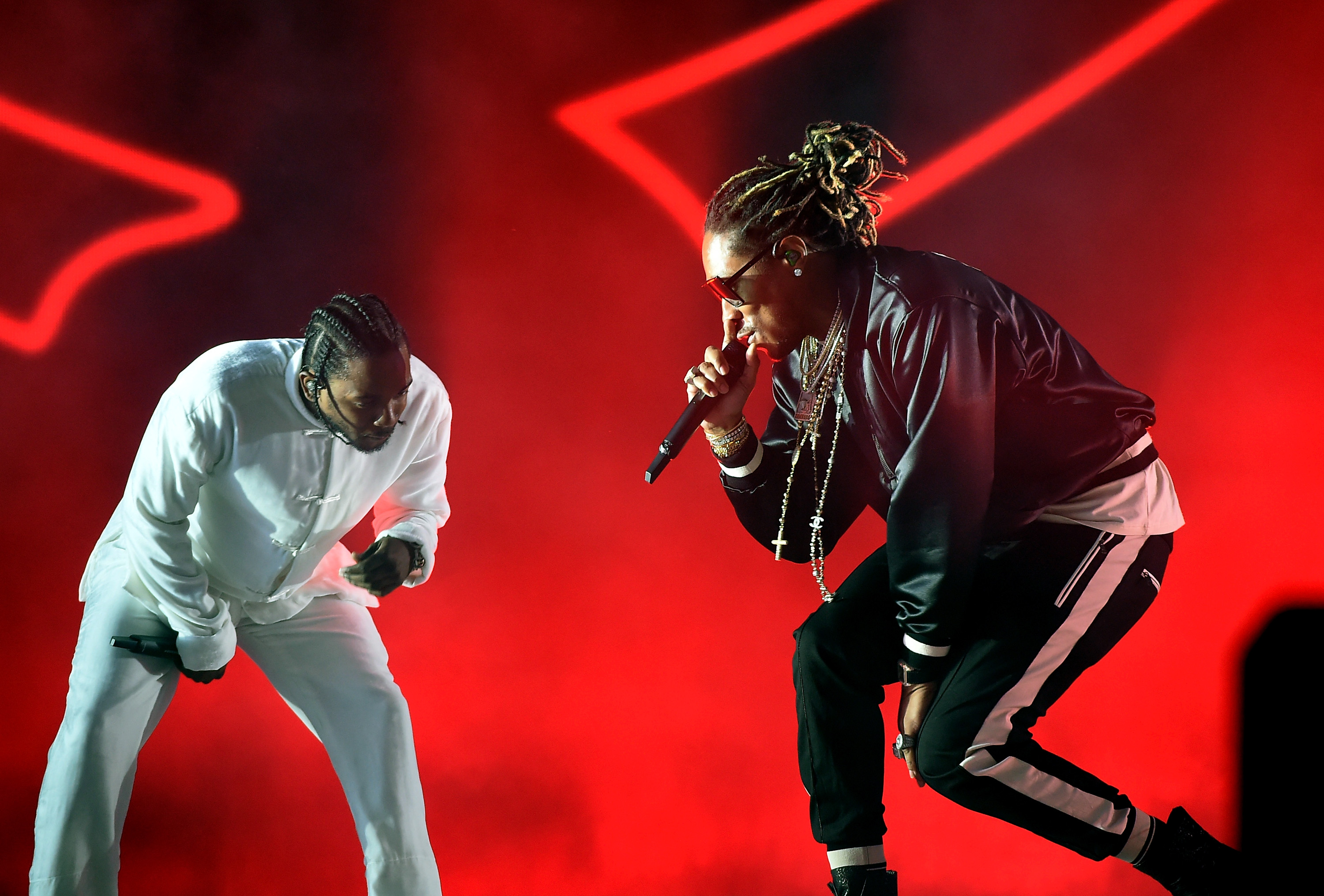 Kendrick Lamar and Future performing at Coachella