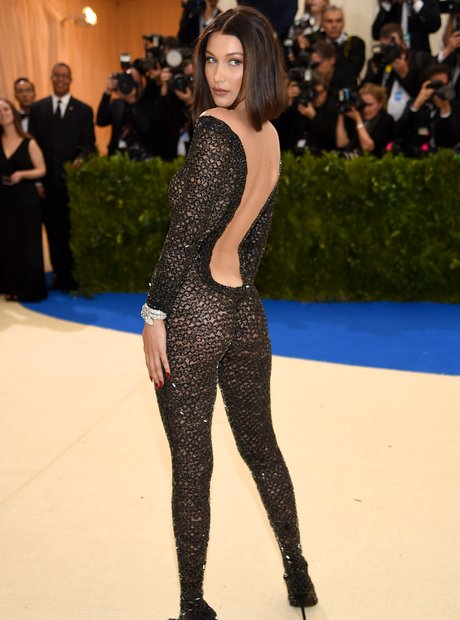 8063f68b72bb Bella Hadid made sure all eyes were on her in a sheer black jumpsuit ...